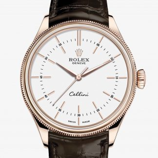 rolex Cellini 39 mm oro Everose 18 ct finitura lucida 50505