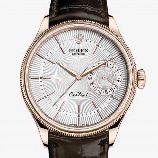 rolex Cellini 39 mm oro Everose 18 ct finitura lucida 50515
