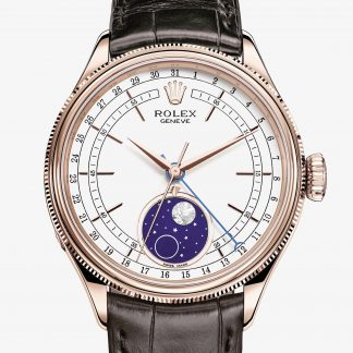 rolex Cellini 39 mm oro Everose 18 ct finitura lucida 50535