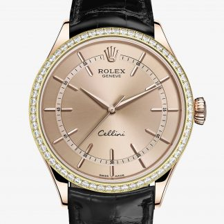 rolex Cellini 39 mm oro Everose 18 ct finitura lucida 50705RBR