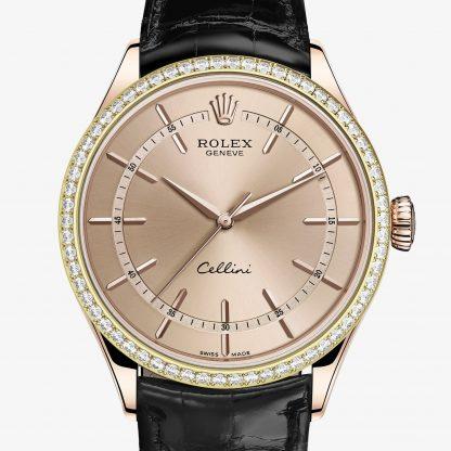 rolex Cellini 39 mm oro Everose 18 ct finitura lucida 50705RBR