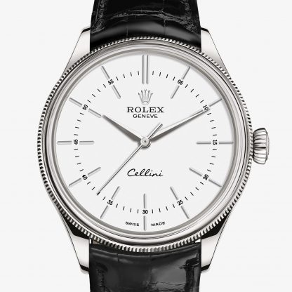 rolex Cellini 39 mm oro bianco 18 ct finitura lucida 50509