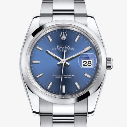 rolex Date Oyster 34 mm acciaio Oystersteel 115200