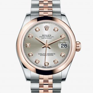 rolex Datejust Oyster 31 mm acciaio Oystersteel e oro Everose 178241