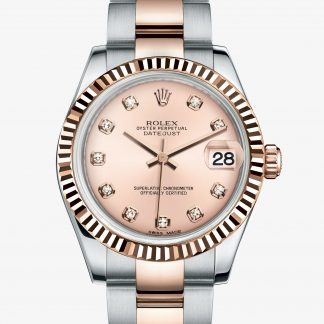 rolex Datejust Oyster 31 mm acciaio Oystersteel e oro Everose 178271