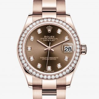 rolex Datejust Oyster 31 mm oro Everose e diamanti 278285RBR