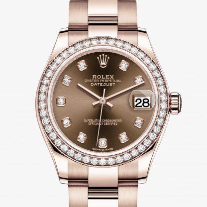 rolex Datejust Oyster 31 mm oro Everose e diamanti 278285RBR