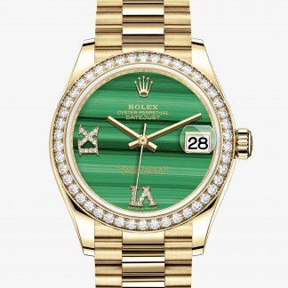 rolex Datejust Oyster 31 mm oro giallo e diamanti 278288RBR