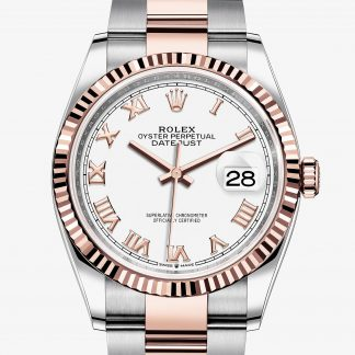 rolex Datejust Oyster 36 mm acciaio Oystersteel e oro Everose 126231