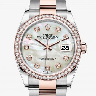 rolex Datejust Oyster 36 mm acciaio Oystersteel e oro Everose 126281RBR