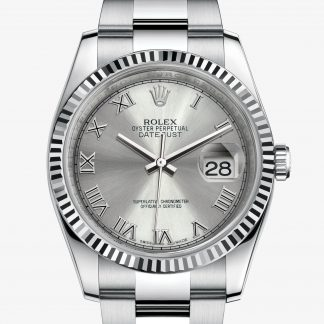 rolex Datejust Oyster 36 mm acciaio Oystersteel e oro bianco 116234