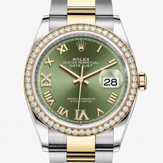 rolex Datejust Oyster 36 mm acciaio Oystersteel oro giallo e diamanti 126283RBR