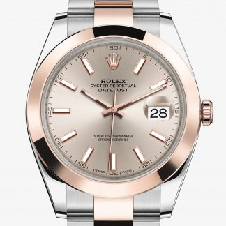 rolex Datejust Oyster 41 mm acciaio Oystersteel e oro Everose 126301