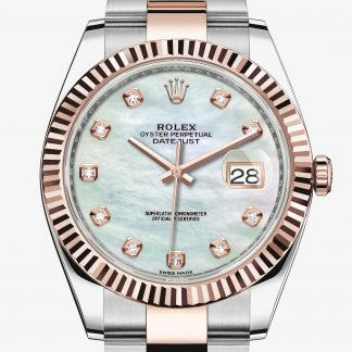 rolex Datejust Oyster 41 mm acciaio Oystersteel e oro Everose 126331