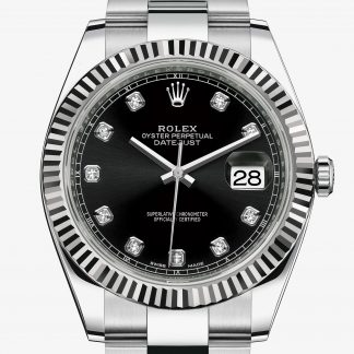 rolex Datejust Oyster 41 mm acciaio Oystersteel e oro bianco 126334