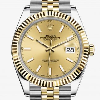 rolex Datejust Oyster 41 mm acciaio Oystersteel e oro giallo 126333