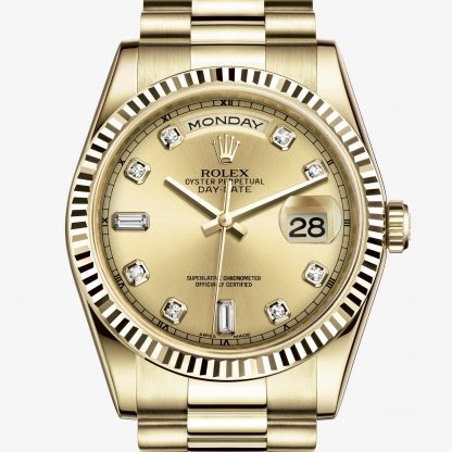 rolex Day-Date Oyster 36 mm oro giallo 118238