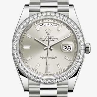 rolex Day-Date Oyster 40 mm oro bianco e diamanti 228349RBR
