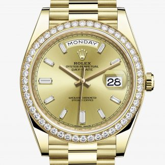 rolex Day-Date Oyster 40 mm oro giallo e diamanti 228348RBR