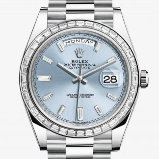 rolex Day-Date Oyster 40 mm platino e diamanti 228396TBR