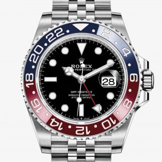 rolex GMT-Master II Oyster 40 mm acciaio Oystersteel 126710BLRO