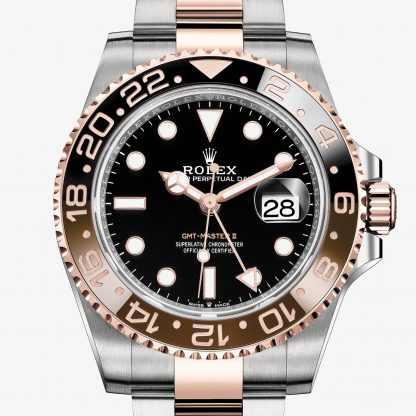 rolex GMT-Master II Oyster 40 mm acciaio Oystersteel e oro Everose 126711CHNR