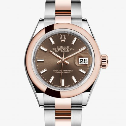 rolex Lady-Datejust Oyster 28 mm acciaio Oystersteel e oro Everose 279161