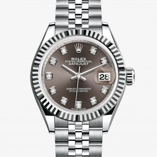 rolex Lady-Datejust Oyster 28 mm acciaio Oystersteel e oro bianco 279174