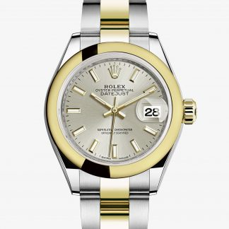 rolex Lady-Datejust Oyster 28 mm acciaio Oystersteel e oro giallo 279163