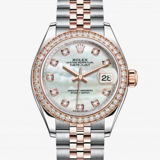 rolex Lady-Datejust Oyster 28 mm acciaio Oystersteel oro Everose e diamanti 279381RBR