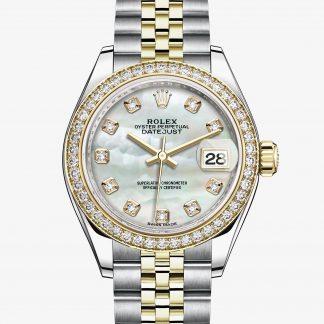 rolex Lady-Datejust Oyster 28 mm acciaio Oystersteel oro giallo e diamanti 279383RBR