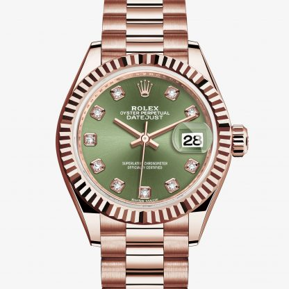 rolex Lady-Datejust Oyster 28 mm oro Everose 279175