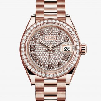 rolex Lady-Datejust Oyster 28 mm oro Everose e diamanti 279135RBR