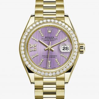 rolex Lady-Datejust Oyster 28 mm oro giallo e diamanti 279138RBR