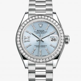 rolex Lady-Datejust Oyster 28 mm platino e diamanti 279136RBR