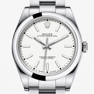 rolex Oyster Perpetual Oyster 39 mm acciaio Oystersteel 114300
