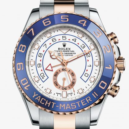 rolex Yacht-Master II Oyster 44 mm acciaio Oystersteel e oro Everose 116681